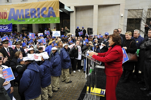 Rep. Lowey Speaks at AFGE TSA Rally