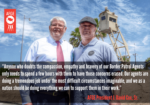 """Anyone who doubts the compassion, empathy and bravery of our Border Agents only needs to spend a few hours with them to have those concerns erased. Our agents are doing a tremendous job under the most difficult circumstances imaginable, and we as a nation should be doing everything we can to support them in their work,"" Pres. Cox said."