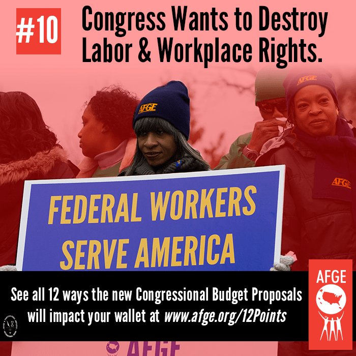 Congress wants to destroy labor & workplace rights.