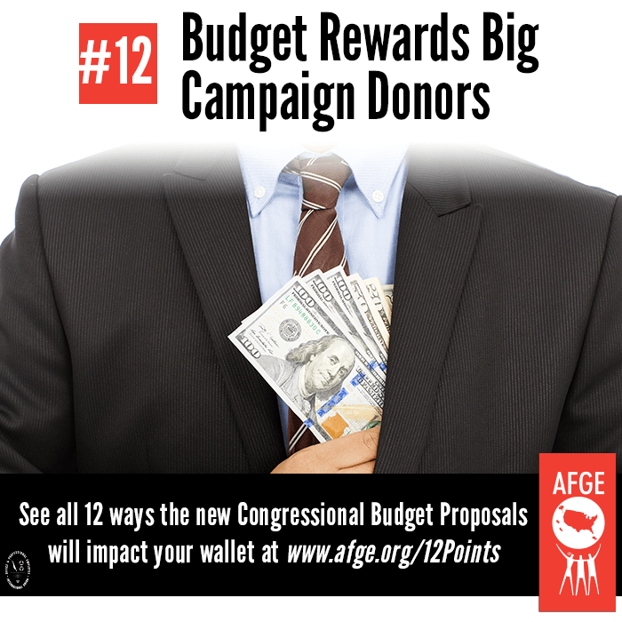 Budget rewards big campaign donors