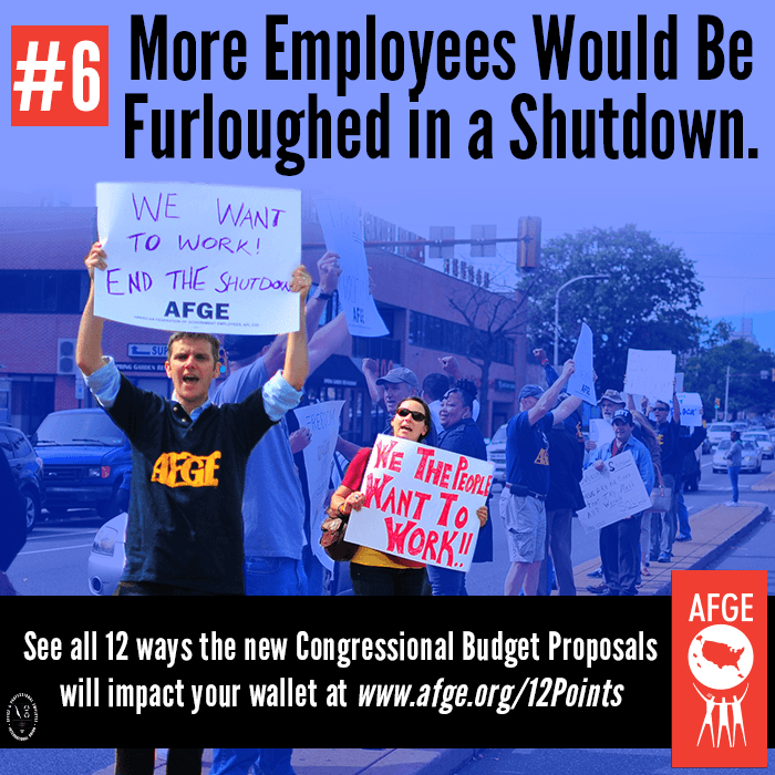 More employees would be furloughed in a shutdown.