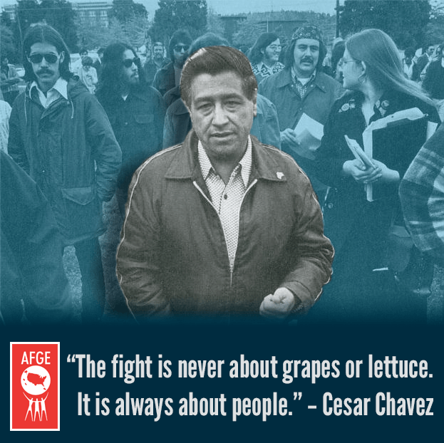 """The fight is never about grapes or lettuce. It is always about people."" - Cesar Chavez"