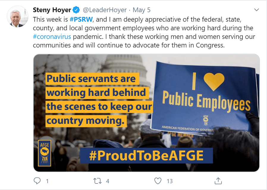 Tweet from Steny Hoyer